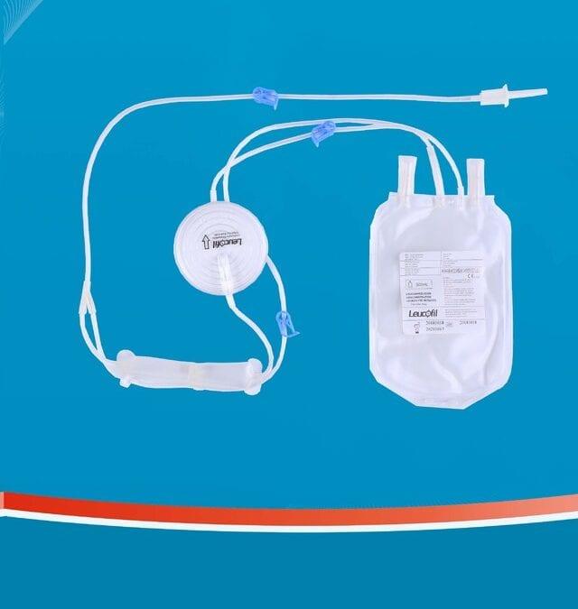 Filtro de Hemácias para redução de leucócitos em bancada